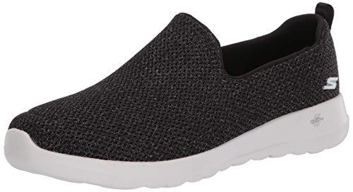 Skechers Women's GO Walk Joy-Highlight Sneaker, Black/Gold, 9 Medium US