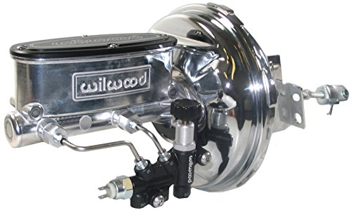 NEW CHROME POWER BRAKE BOOSTER & POLISHED WILWOOD MASTER CYLINDER SET WITH ADJUSTABLE PROPORTIONING VALVE FOR 1967 - 1972 GM A-BODY, 1967 - 1969 GM F-BODY, 1967, 1968, 1969, 1970, 1971, 1972 CHEVELLE, EL CAMINO, MONTE CARLO, MALIBU, REGAL, SKYLARK, CUTLASS, 4-4-2, F85, VISTA CRUISER, LEMANS, GRAND PRIX, GTO, TEMPEST, CAMARO, FIREBIRD