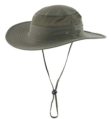 Home Prefer Unisex Daily Outdoor Sun Hat Camouflage Mesh Bucket Hat Wide Brim Boonie Fishing Hats Army Green