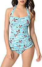 Esther Williams Vintage 1950s Style Pin Up Palm Tree Print Swimsuit