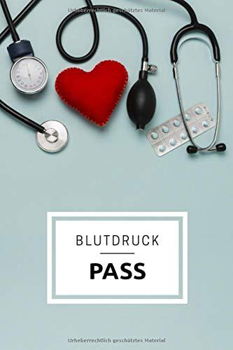 Blutdruck Pass: Version: Messzubehör | Blutdruck-Tagebuch zum Ausfüllen | Großer Blutdruckpass für mehr als 3000 Messungen | gegliedert nach Zeit, ... zu Weihnachten für die Großeltern | DIN A5