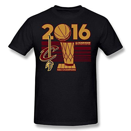 CXY Hombres de Cleveland Cavaliers 2016NBA Finals Champions camiseta negro