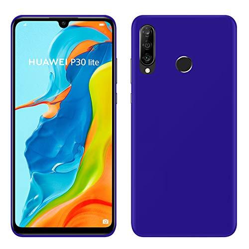 TBOC Funda de Gel TPU Azul para Huawei P30 Lite [6.15 Pulgadas] Carcasa de Silicona Ultrafina y Flexible para Teléfono Móvil [No es Compatible con Huawei P30]