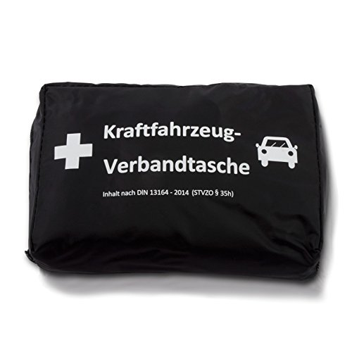 KFZ-Verbandstasche | DIN 13164 | Wahlweise mit Warnweste | First Aid | Erste Hilfe Tasche für das Auto (Ohne Warnweste)
