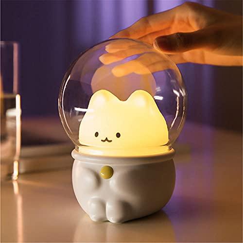 Luz nocturna, Lámpara de escritorio LED animal Dimensión colorida USB de humor visual recargable para niños adultos, dormitorio/hogar/fiesta/salones