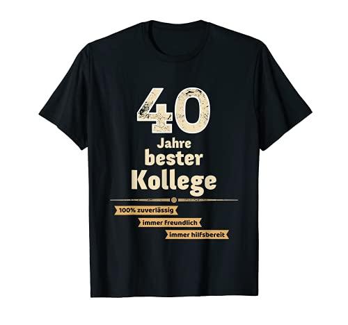 Camiseta de regalo para aniversario de empresa, 40 años, mejor compañero Camiseta