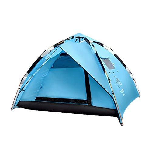 AYLS Outdoor mountaineering tent double layer 2-3-4 people outdoor camping automatic speed open waterproof rainproof camping park tour family travel double portable tent