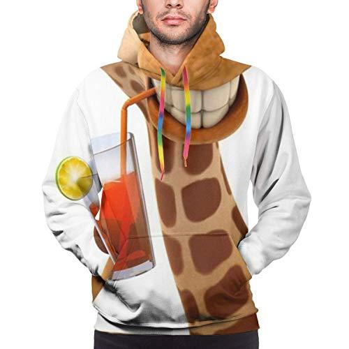 baowen ¡Hey yo Otra Vez! Giraffe - Sudadera con Capucha de Ajuste atlético para Hombre, Sudadera con Capucha Activa