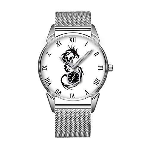 Mode wasserdicht Uhr minimalistischen Persönlichkeit Muster Uhr -578. mythischer Drache, Jahr des Drachen Designs
