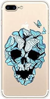 Funda Compatible con iPhone 7/8 Plus,Carcasa Transparente Suave Clear Silicona TPU Creativo Patrón Ultrafina Flexible Lige...