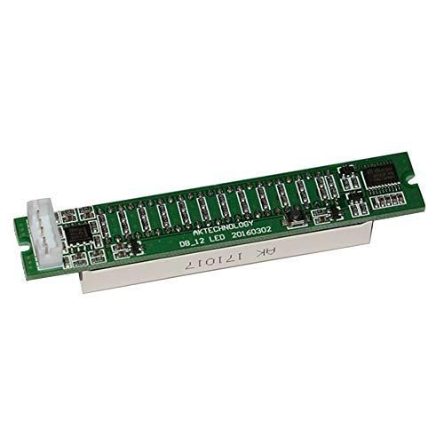 Mini Dual 12 Pegelanzeige VU Meter Stereo-Verstärkerplatine Einstellbare Lichtgeschwindigkeitsplatine mit AGC-Modus DIY-Kits - Grün