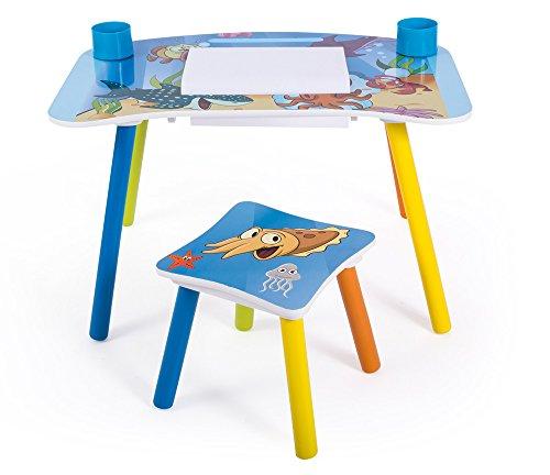PEGANE Ensemble Table et Chaise Enfant pour Loisirs créatifs Motif Poissons