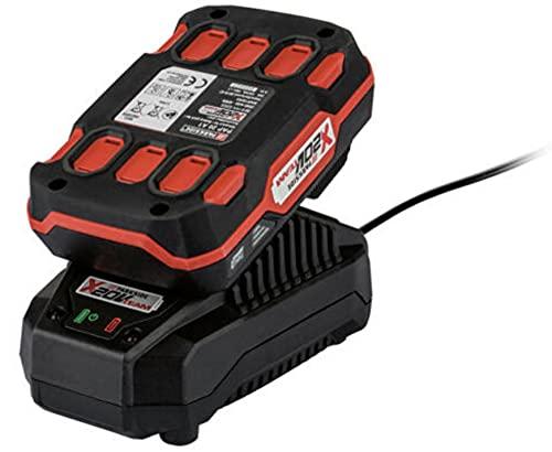 Parkside PAP 20 A1+ Cargador PLG20 A1, batería de iones de litio potente de 2 Ah con 3 fases (todas las herramientas de la serie Parkside 20 V Team Power Tool viene con enchufe británico)