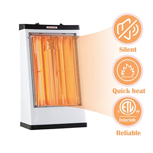 DONYER POWER Electric Radiant Heater,Quartz Tube Heater,1500W,White,Living Room Space Heating Heater Oil Space
