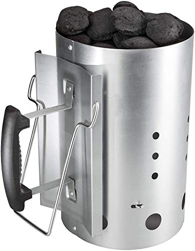 Broilmann Charcoal Starters, Chimney Starter for Weber 7416, Includes Heat Resistant BBQ Glove and...