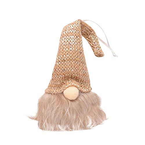 Laputa Cute GNOME Doll LED Colgante Luz Árbol De Navidad Ventana Puerta Colgante Adorno Decoración del Hogar Suministros Dorado