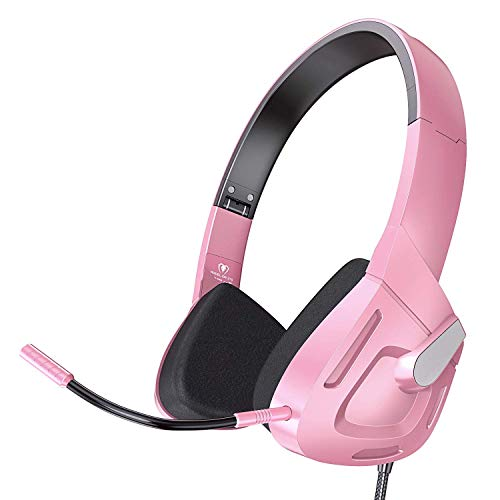 Svyhuok - PS4 Xbox Gaming Headset para niños GIFS, auriculares electrónicos plegables con micrófono desmontable para chat telefónico, PC, PS4, nuevo mando Xbox One, teléfonos móviles