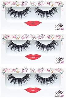 False Eyelashes Natural Lashes- LashXO Smoking Hot-3 PK Premium Quality False Eyelashes Compare to brand Koko Lashes and House of Lashes Fake Eyelashes