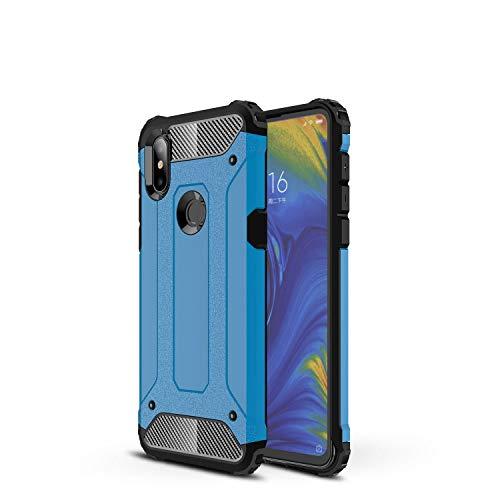 Botongda Xiaomi Mi Mix 3 5G Hülle,Schlagfestes & kratzfestes Gehäuse mit rückseitige Abdeckung mit Einer Kombination aus robustem PC & weichem TPU für Xiaomi Mi Mix 3 5G(Blau)
