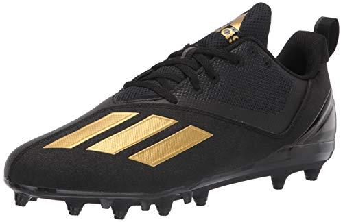 adidas Men's Adizero Spark Football Shoe, Black/Gold Metallic/Black, 11.5