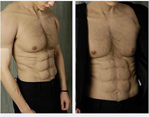 YYSDH Silicona músculos Abdominales Chaleco de la simulación Artificial de Falsos Realista musculares Silicona Falso para los Hombres Traje de Mascarada de Cosplay,B