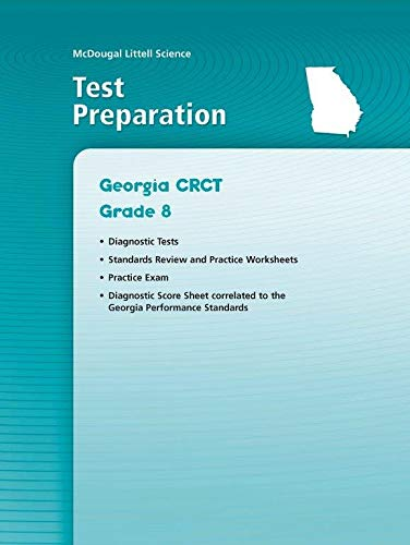 McDougal Littell Science: Test Prep Workbook Grade 8 Physical Science