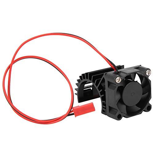 VGEBY Coche RC Modelo de Barco Disipador de Calor, Coches de Juguete Barco Ventilador Mejorado Radiador y Ventilador de refrigeración y Disipador de Calor Mejorado para Motor 380/390 Modelo (Negro)