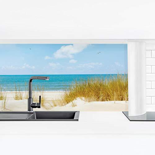 Bilderwelten Küchenrückwand Panorama Folie geklebt - Strand an der Nordsee Smart 70 x 245 cm