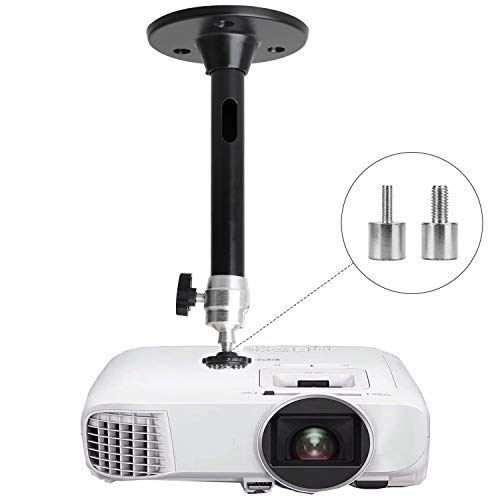 Mini Ceiling Wall Projector Mount Compatible with QKK, DR.J Upgrade, DBPOWER, Anker, AAXA Technologies, Artlii, LoongSon, APEMAN and Most Other Mini Projector (175mm, Black)