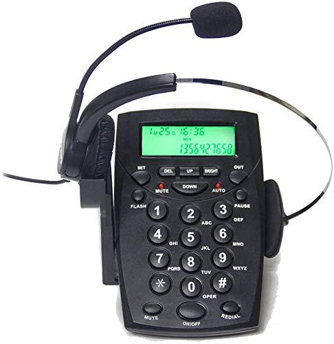 Centro de llamadas TelPal con auriculares con intercomunicador y cancelación de ruido HA0021, Dispositivo fijo analógico para casa o oficina