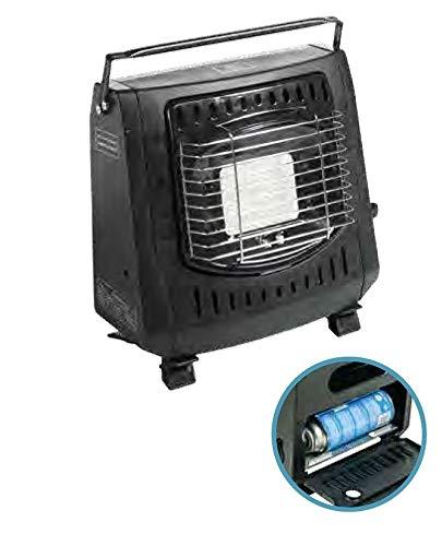 Fritzmann - Calefactor para Tienda de campaña con Interruptor de Falta de oxígeno (Incluye 2 Cartuchos de Gas)