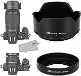 JJC Juego de 3 parasoles de lente para cámara Nikon Z50 NIKKOR Z DX 50-250mm f/4.5-6.3 VR lente y lente NIKKOR Z DX 16-50mm f/3.5-6.3 VR sustituye a HN-40 y HB-90A.