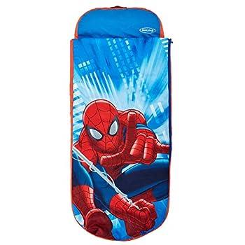 Marvel Spider-Man - Lit junior ReadyBed - lit d?appoint pour enfants avec couette intégrée, Mixte Adulte, Bleu, (L) 150 x (l) 62 x (H) 20cm