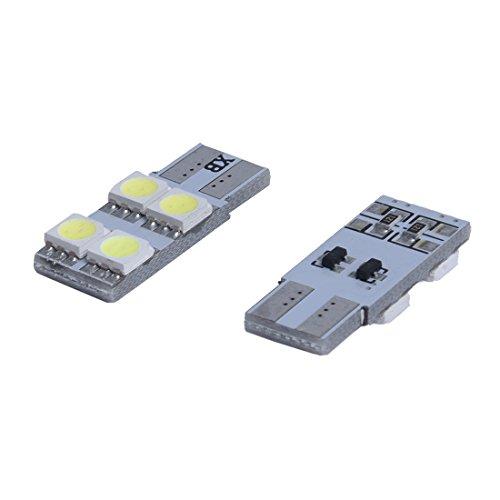 TOOGOO 2X w5w T10 4 LED 5050 SMD Veilleuse Canbus SANS ERREUR ODB 360 Blanc XENON feux