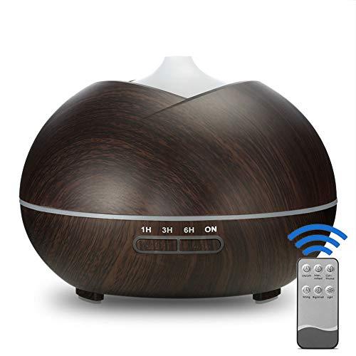 Luchtbevochtiger, Triangle Nerf Aromatherapie Machine, Ultrasonic etherische olie diffuser, Afstandsbediening, Kleurrijke Night Lights, Luchtbevochtiger,Black