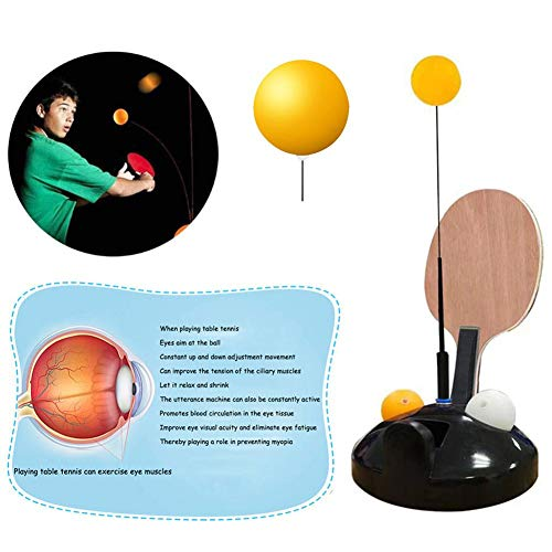 Read About astolily Table Tennis Paddle, Adjustable Height Portable Table Tennis Set Trainer Elastic...