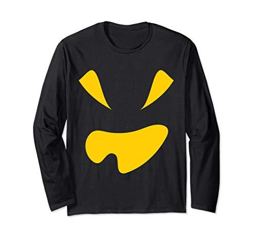 Kürbis Gesicht Halloween Kostüm Jackolantern Langarmshirt
