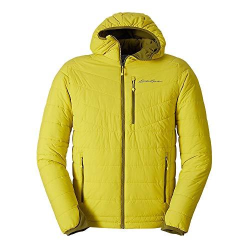 Eddie Bauer Men's IgniteLite Stretch Reversible Hooded Jacket, Citrus Regular M
