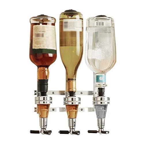 NXL Dispensador De Bebidas Montado En La Pared, Soporte De 3 Medidas para Botellas, para Bebidas Alcohólicas Vodka, Whisky, Rum, Gin