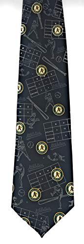 New Oakland A's Batter UP Necktie by Ralph Marlin 3794