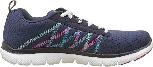 Skechers Flex Appeal Something Fun, Zapatillas para Correr Mujer, Navy/Multicolored, 37 EU