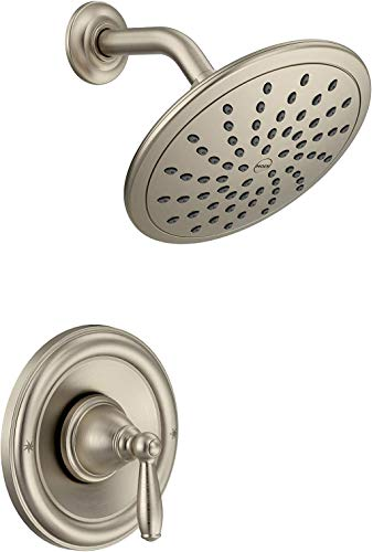 Moen T2252EPBN Brantford Posi-Temp Shower Trim Kit with 8-Inch Eco-Performance Rainshower Valve Required, Brushed Nickel