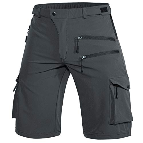 Wespornow Pantalones cortos de ciclismo para hombre, para deportes al aire libre, para hombre (gris oscuro, 3XL)