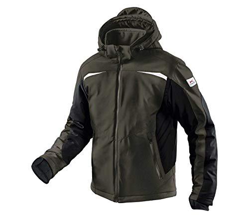 KÜBLER Winter Softshell Jacke, Farbe: Oliv/Schwarz, Größe: L
