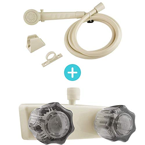 Sale!! Dura Faucet RV Shower Faucet Valve Diverter (DF-SA100S-BQ) and Shower Head and Hose Kit (DF-S...
