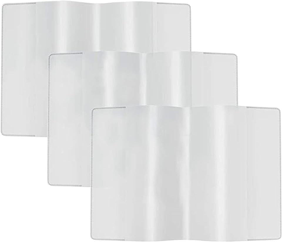 4 Stück Schutzhülle für Internationalen Impfpass Schutzhülle Hülle für den Impfpass Impfbuch Impfbescheinigung Impfausweis für Kinder und Erwachsene Klare Kartenhalter wasserdichte PVC Softcard Hülle