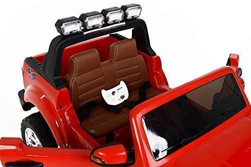 RC Auto kaufen Kinderauto Bild 4: RIRICAR Ford Ranger Wildtrak 4X4 LCD Luxury, Elektro Kinderfahrzeug, LCD-Bildschirm, rot - 2.4Ghz, 2 x 12V, 4 X Motor, Fernbedienung, 2-Sitze in Leder, Soft Eva Räder, Bluetooth*
