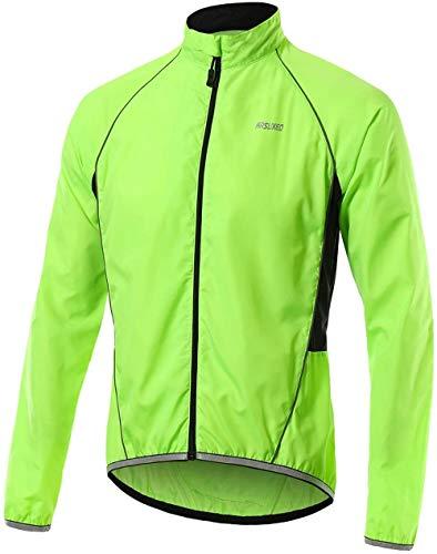 Chaqueta De Ciclismo para Hombre MTB Abrigo Ligero Impermeable A...