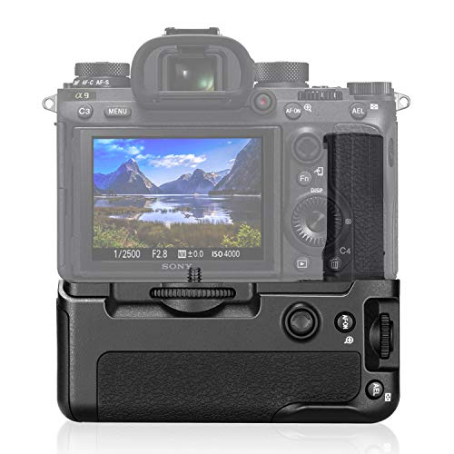 Neewer Vertical Battery Grip for Sony A9 A7III A7RIII Cameras, Replacement for Sony VG-C3EM, Only Works with NP-FZ100 Battery (Battery Not Included)