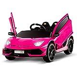 Uenjoy 12V Kids Electric Ride On Car Lamborghini Aventador SVJ Motorized...